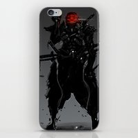 suit iPhone & iPod Skins featuring ShadowBlade Suit by Benedick Bana