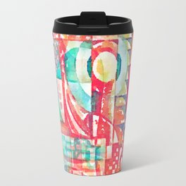 Sunshine Geometry in Watercolor Travel Mug