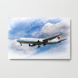 Air Canada Boeing 767 Metal Print