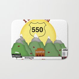 I Survived Hwy 550 Durango, Silverton & Ouray Colorado Bath Mat