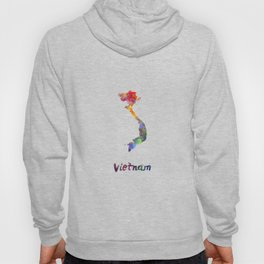 Vietnam in watercolor Hoody