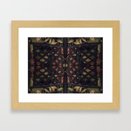 Tropical Latticework Pattern Framed Art Print