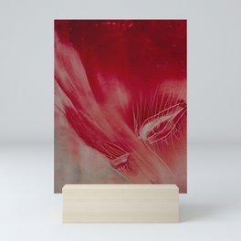 Face in red Mini Art Print