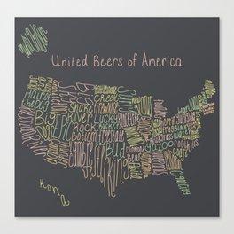 United Beers of America Canvas Print