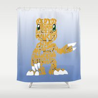 digimon Shower Curtains featuring Argumon by pokegirl93