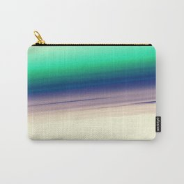 Mint Blue Lavender Ombre Carry-All Pouch