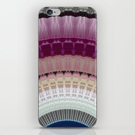 Decorative Wine Dark Blue Mandala iPhone Skin