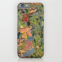 The land of make believe. Published by Jaro Hess 1930 Cornucopia of Fairy Tales Detailed Labeled Map Fun Magical Fantasy Art iPhone Case