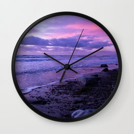 Scenic ocean sunset in Carlsbad California Wall Clock