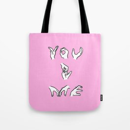 You and Me - pink Tote Bag