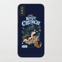 kaiju iPhone & iPod Cases featuring Kaiju Crunch by Matt Dearden