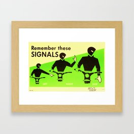 Vintage Road Safety Poster Framed Art Print