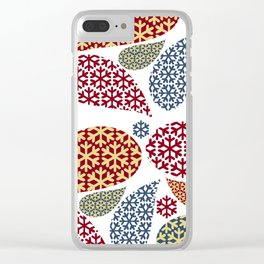 Paisley Snowflake Pattern Clear iPhone Case