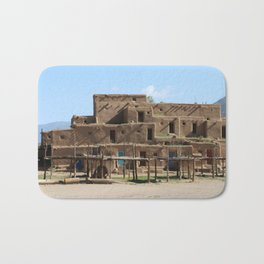 A Taos Pueblo Building Bath Mat