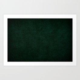 Dark green leather sheet texture abstract Art Print