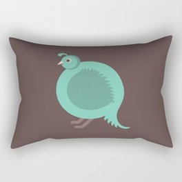 Letter Q // Animal Alphabet // Quail Monogram Rectangular Pillow