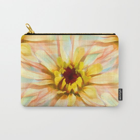 Painterly Sunset Seamless Zinnia Carry-All Pouch