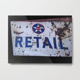 Retail Sign Metal Print