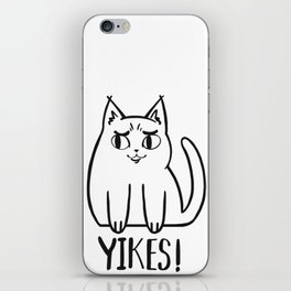 Yikes Cat iPhone Skin