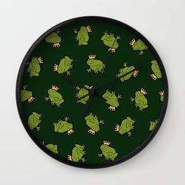 Frog Prince Pattern Wall Clock