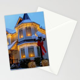 Man Made House Buildings Christmas Decoration Ligh Stationery Cards