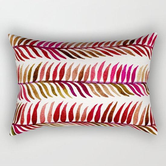 Red Stems Rectangular Pillow