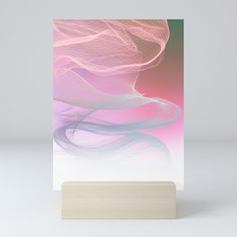 Flow Motion Vibes 1. Pink, Violet and Grey Mini Art Print