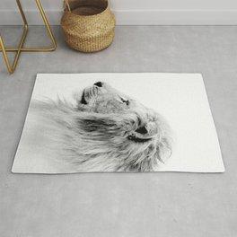 Lion Print, Animal Prints, Black & White Photography Rug
