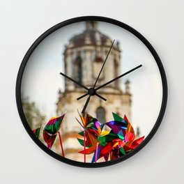 The colors of Mexico Wall Clock