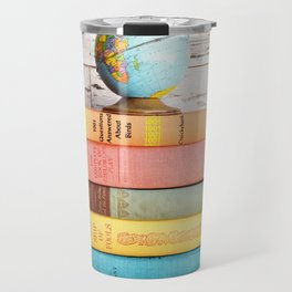 Candy Colored Stack of Books Travel Mug