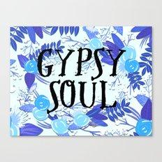 Floral Watercolor Gypsy Soul - Boho Hippy Festival Art Canvas Print