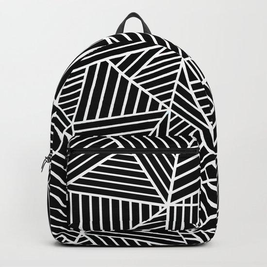 Ab Lines Black on White Backpack