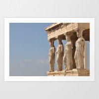 Athens - Goddess Temple Art Print
