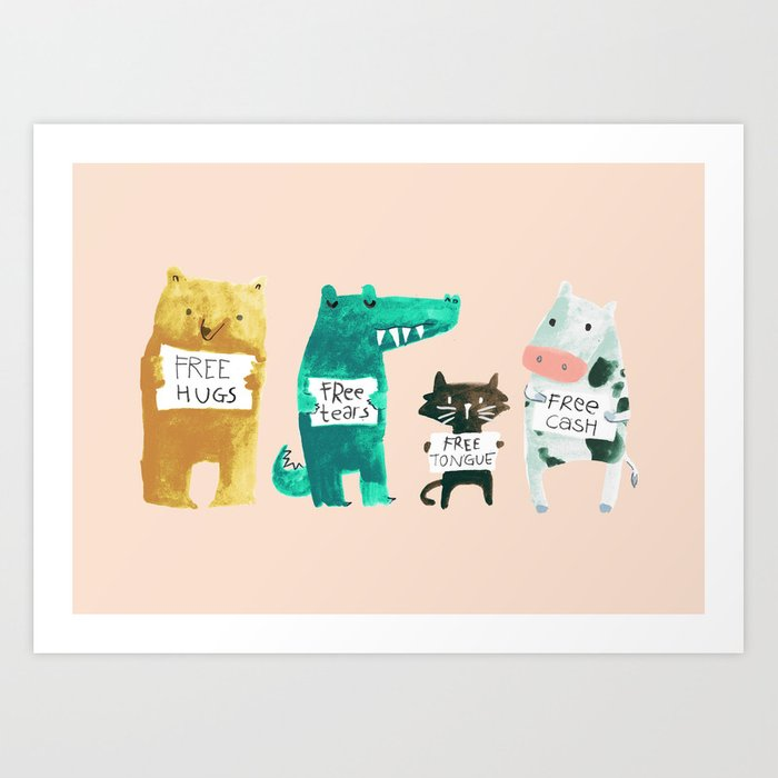 Animal idioms - its a free world Kunstdrucke