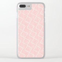 Tilting Diamonds in Pink Clear iPhone Case