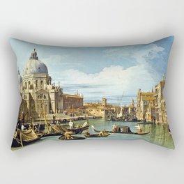 Canaletto Bernardo Bellotto  -  The Entrance To The Grand Canal  Venice Rectangular Pillow