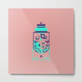 "poster : bottle 8 ""verre preambule"" Metal Print"