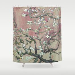 Almond Blossom - Vincent Van Gogh (pink pastel and cream) Shower Curtain