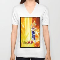 dragonball V-neck T-shirts featuring Vegeta Dragonball Z best idea by customgift