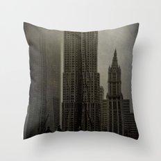Concrete, Steel & Glass Throw Pillow