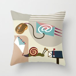 Swift Snail Mail Throw Pillow