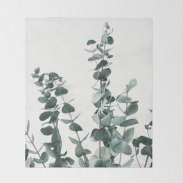 Eucalyptus Leaves Throw Blanket