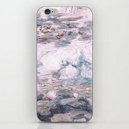 Water Lilies Monet Steel Blue Gray iPhone Skin