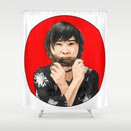Cute girl in Kimono Shower Curtain