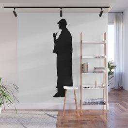 Sherlock Holmes Silhouette Wall Mural