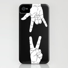 Peace Love and Rock N Roll iPhone (4, 4s) Slim Case