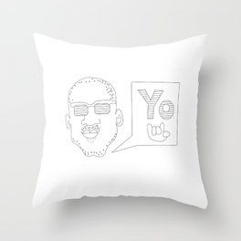 Greetings yo! Throw Pillow