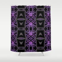 funky Shower Curtains featuring Funky Tribe by Lyle Hatch