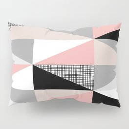 NORDIC 3angles pink grey black Pillow Sham