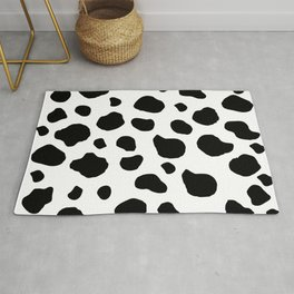 Animal Print (Cow Print), Cow Spots - White Black Rug